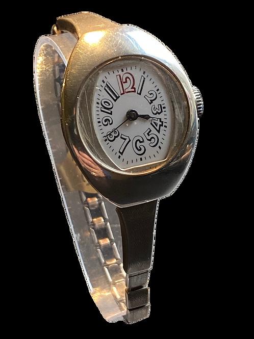 1920's Unbranded Sterling Silver Ladies Bracelet Watch