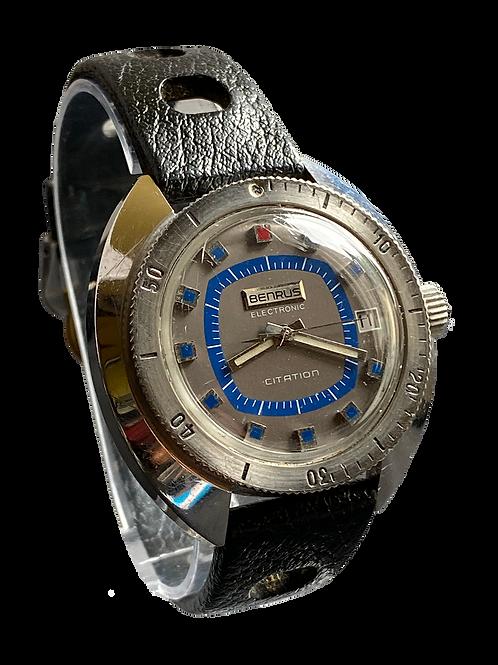 Benrus Citation Electronic 1970's Gents Watch