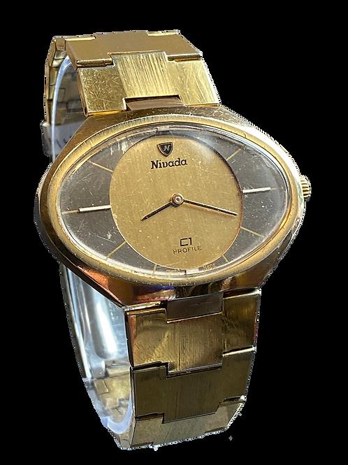 Nivada C1 Profile 1970's large Gents Bracelet Watch