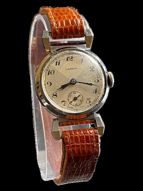 1930's Gents Lanco (Langendorf Watch Co) Dress Watch