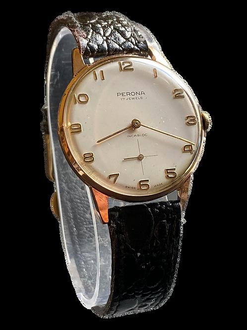 1960's Perona Jumbo Gents Dress Watch