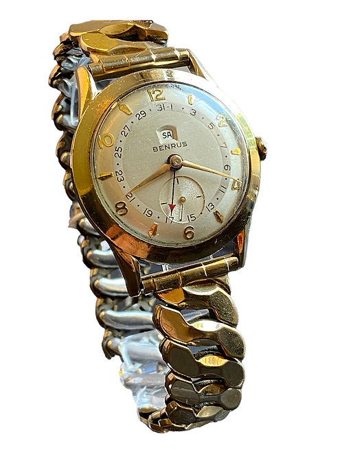 Benrus Gents Day/Date 1950's Dress Watch