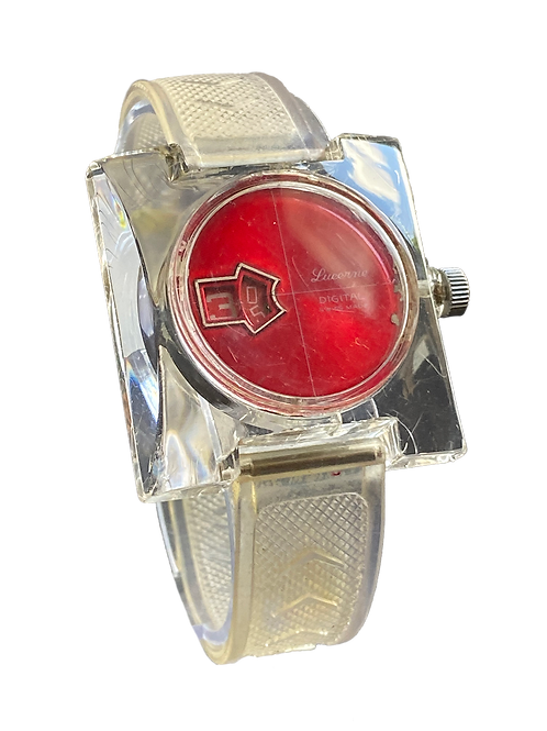 Lucerne 1970's Jump Hour Direct Read Gents Watch