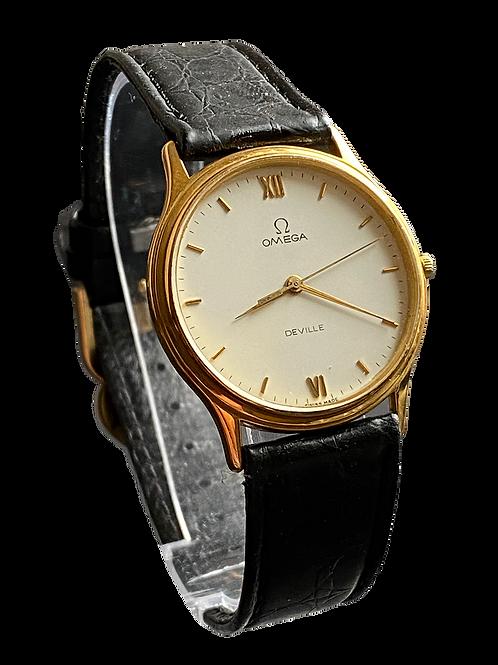 Omega De Ville Gents Quartz Dress Watch 1980's