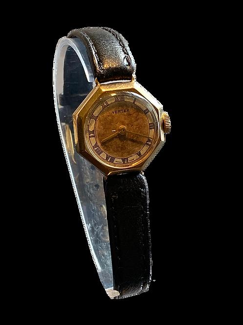 Ladies 1953  9ct Vertex Dress Watch on strap