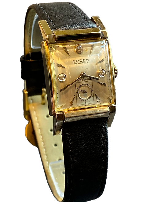 Gruen Veri-thin Diamond set 1950's Gents Dress Watch