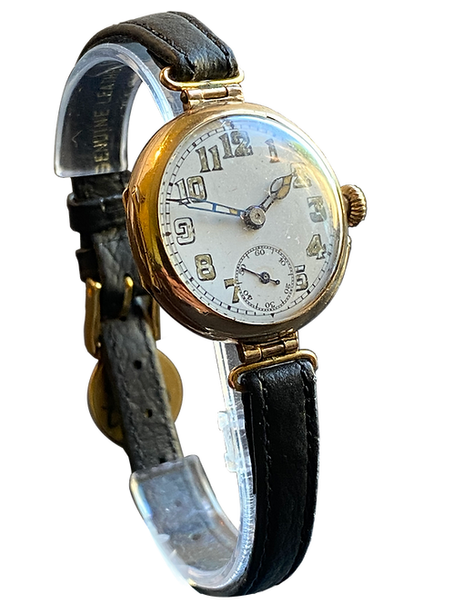 9ct Gold 1916 Mid Size Trench Watch
