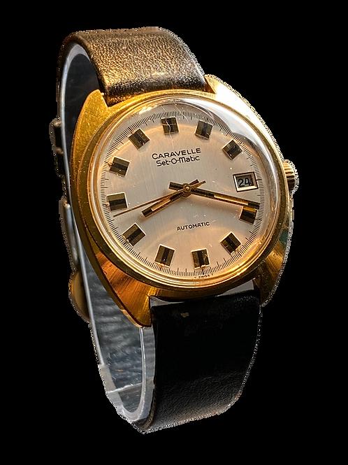 1973 Caravelle  (Bulova ) Set O Matic Gents Dress Watch