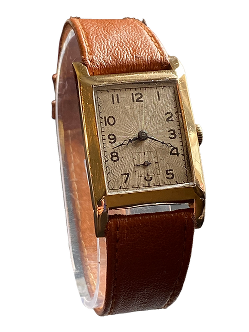 1930's Gents Unbranded 9ct Gold Dress Watch