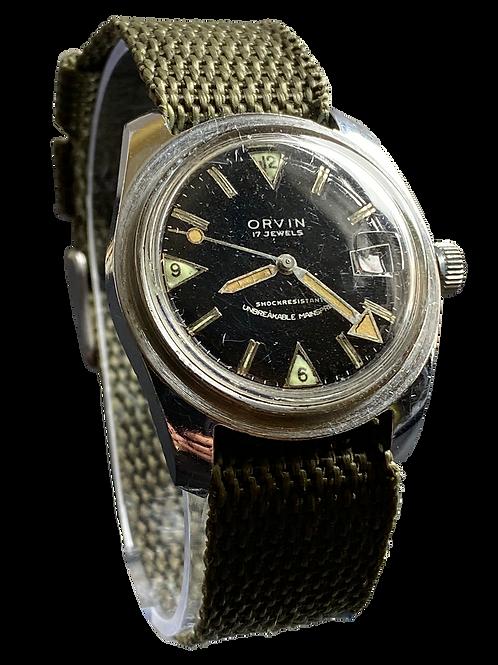 Orvin Gents 1970's Divers Watch