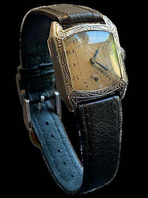 Sterling Silver Sorority Gents Art Deco Watch 1927