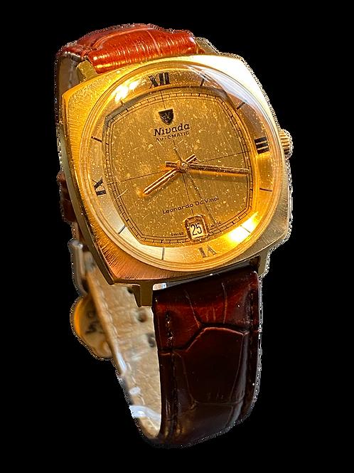 1970's Nivada Leonardo Da Vinci Gents Automatic Dress Watch