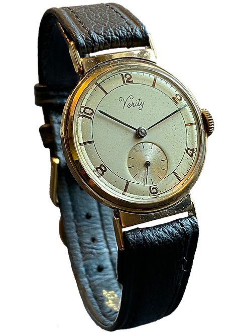 Verity 1950 9ct Yellow Gold Gents Dress Watch
