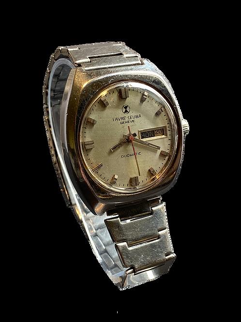 Favre Leuba Duomatic  Gents Bracelet Watch 1970's