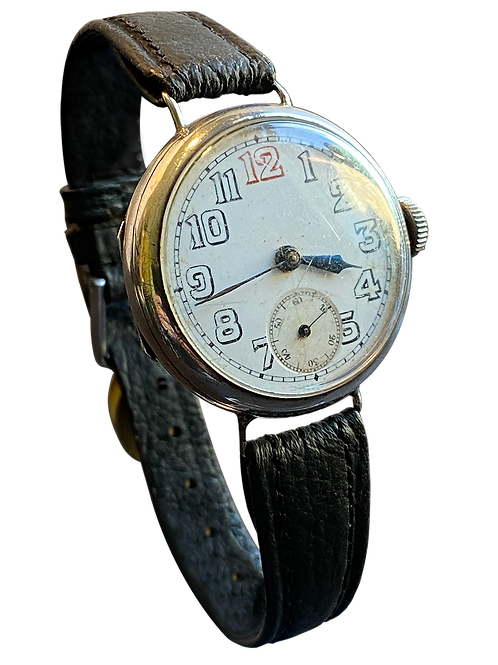 Sterling Silver Trench Watch c1918