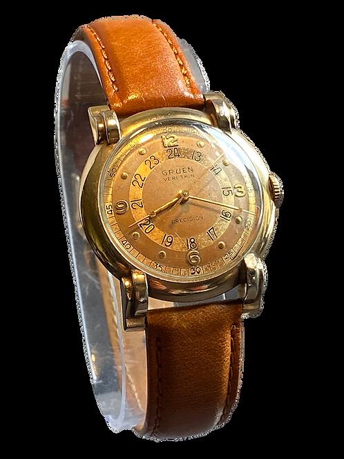 Gruen Verithin Pan-Am Pilots Watch c1949 Gents Watch