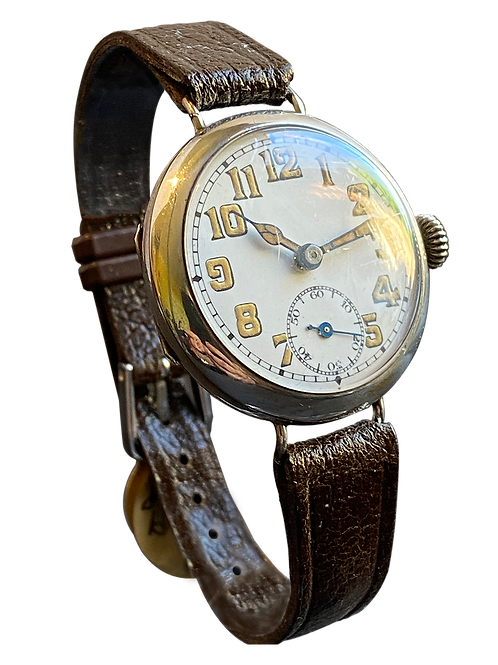 Sterling Silver Trench Watch 1928