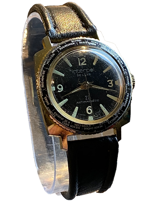 1970's Interpol Gents World Time Gents Watch