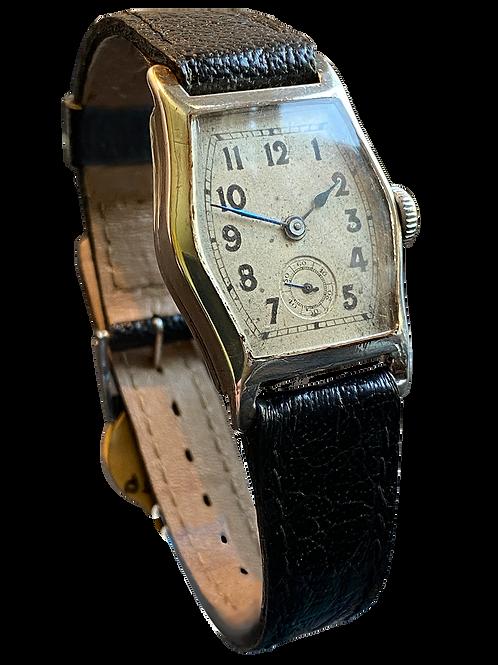 Sterling Silver Gents Deco Presentation Watch 1926