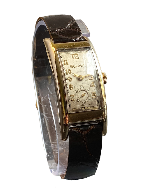 c1934 Bulova President Curvex style Gents Dress Watch
