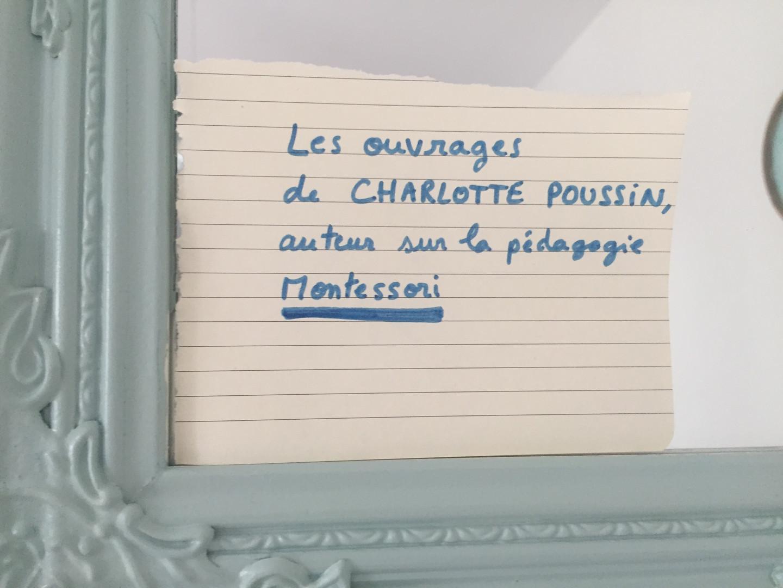 Les ouvrages de Charlotte Poussin