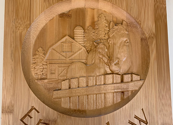 Enumclaw Carved Bamboo Cutting Board