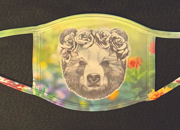 Mama bear face mask, adult