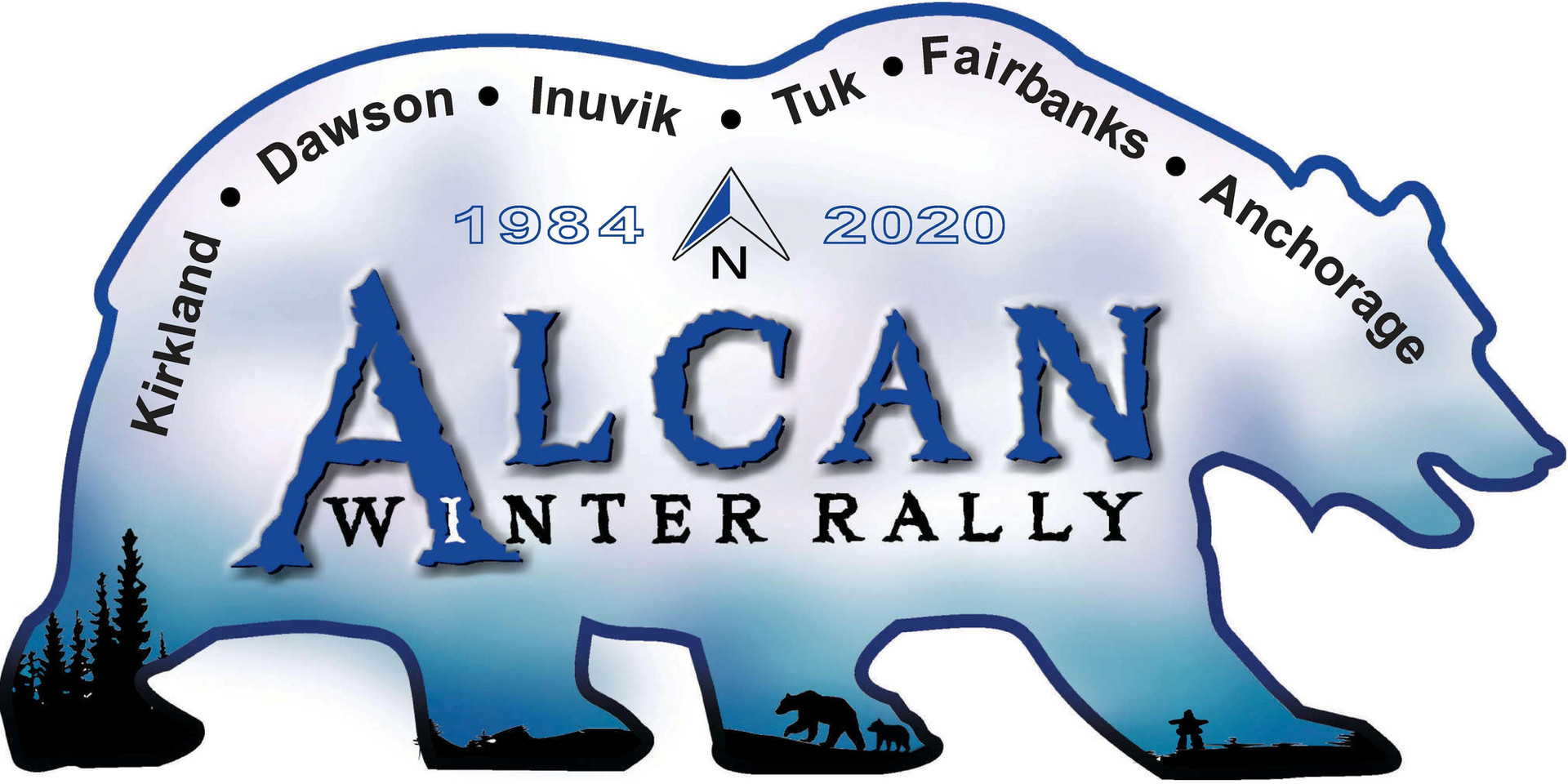 Design for a replica of Canada Northwest Territories License plate for this rally.
