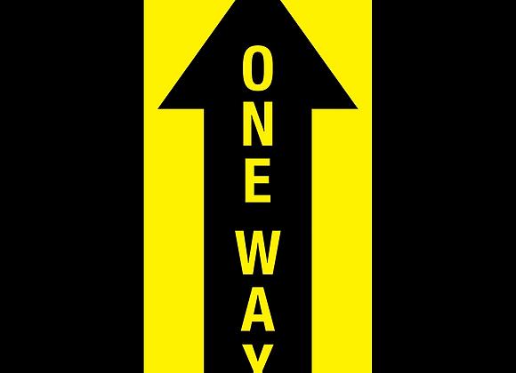 """6"""" x 12"""" One Way Floor Graphic"""