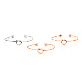 Silver, Gold, Rose Gold Love Knot