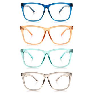 Transparent colors fashion glasses