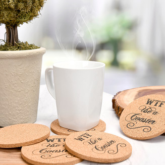 Natural Cork Coasters Lifestyle Photo