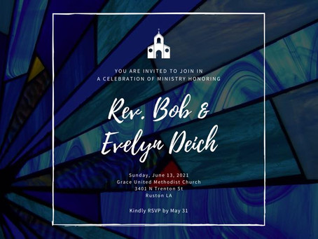 Rev. Bob and Evelyn Deich Retirement Celebration