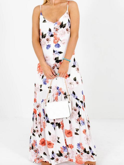 AD/Airi Garden White Floral Maxi Dress