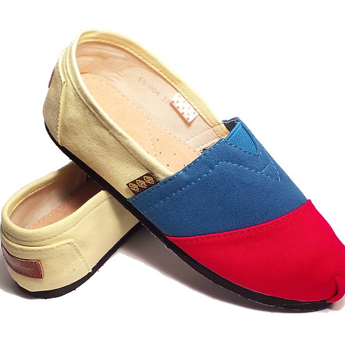 Classic Canvas Slip Ons, Tricolor Fragolinas