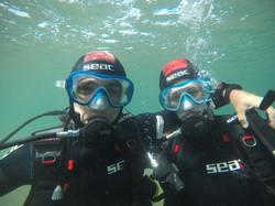 Amoureux sous l'eau!