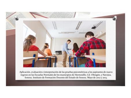 Aplicación de psicométrico a aspirantes de Escuelas Normales.