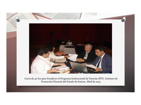 Fortalecimiento del Programa Institucional de Tutorías. Escuelas Normales