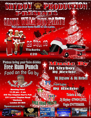 Santa Wear Bus Dance