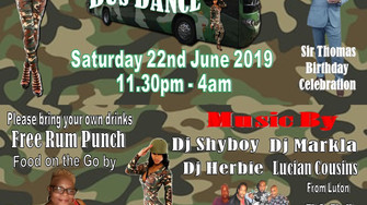 SHYBOY PRODUCTION PRESENTS CAMOUFLAGE WEAR BUS DANCE
