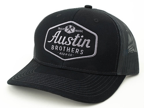 Trucker Hat Black and Charcoal