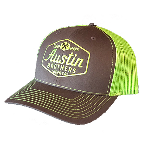 Trucker Hat Gray and Neon Green