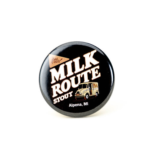 Milk Route Stout Button