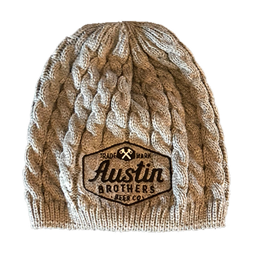 Gray Cable Beanie