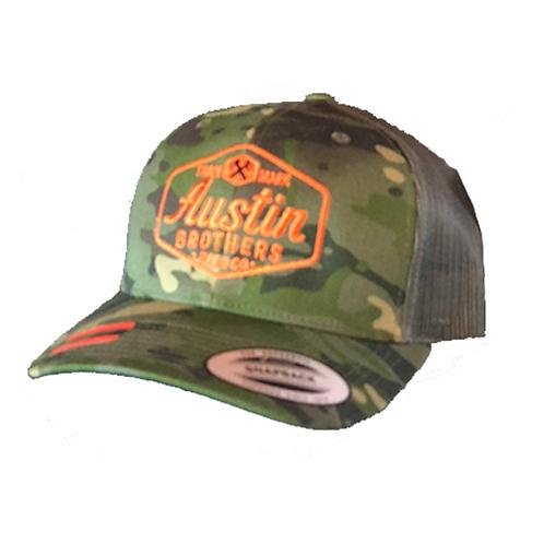 Trucker Hat Camo and Orange