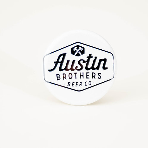 Original Logo White Button