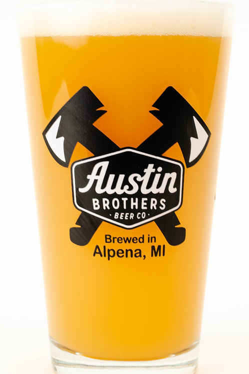 Double Logo Pint Glass