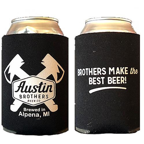 Austin Bros. Black Beer Coozie
