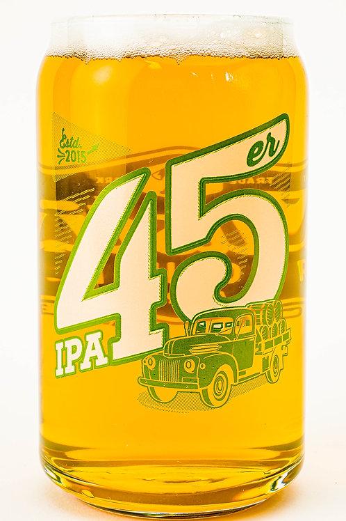 45er IPA Can Glass