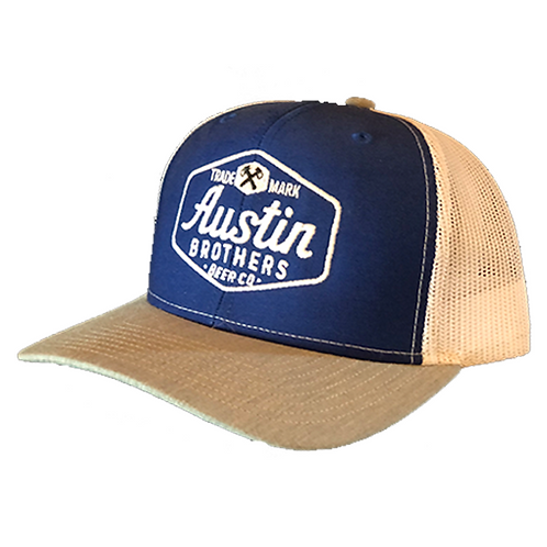 Trucker Hat Blue, White, and Gray